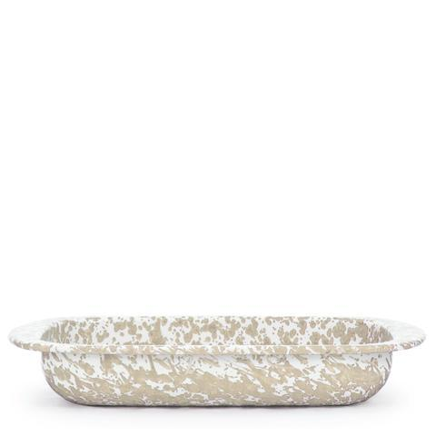 Golden Rabbit  Taupe Swirl Baking Pan $55.00