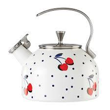 Kate Spade  Vintage Cherry Dot Tea Kettle $60.00