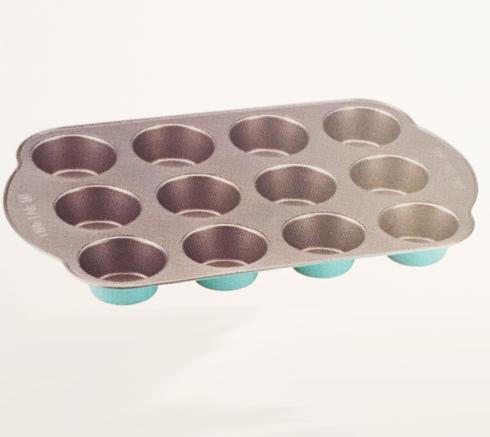 "Kate Spade  Bakeware and Baking Pans Turquoise ""One for You Two for Me"" Muffin Pan $20.00"