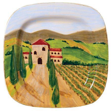 "Tuscan Wheat Field 17"" Wall Plate by Vietri"