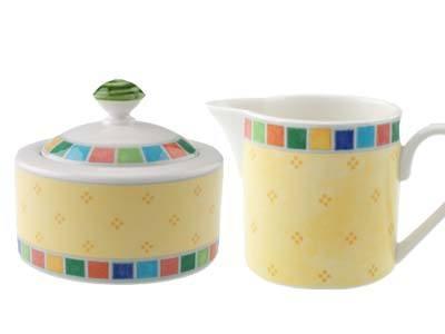 Villeroy & Boch Twist Alea Dinnerware Twist Alea Limone Limone Creamer & Sugar $59.00