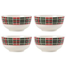Lenox  Vintage Plaid Cereal Bowls, Set of 4 $40.00