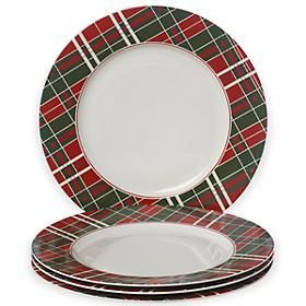 Lenox  Vintage Plaid Dinner Plates, Set of 4 $50.00