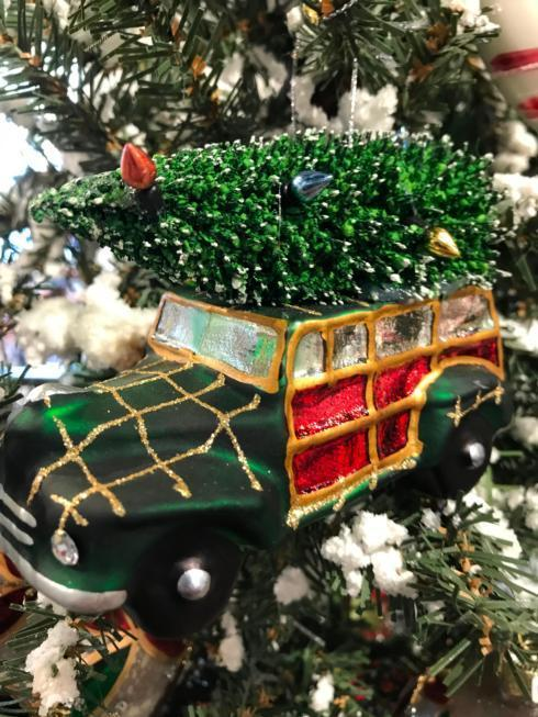 $15.00 Vintage Green Station Wagon Ornament
