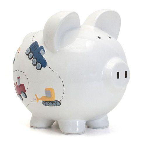White Construction Piggy Bank collection with 1 products