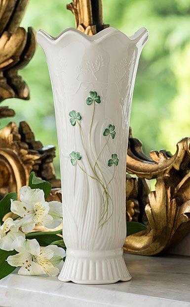 Belleek  Shamrock Vases Woodland Vase $50.00