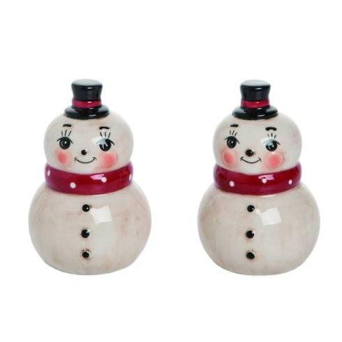 Live With It by Lora Hobbs Exclusives  Christmas Nostalgic Sanowman Salt & Pepper $10.00