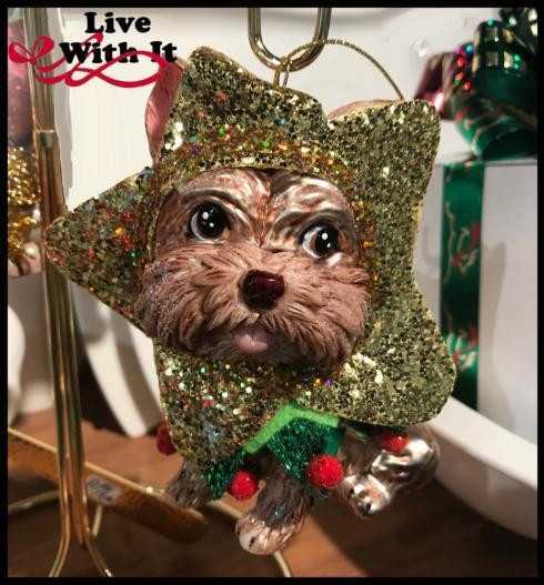 $15.00 Yorkie Is A Star Christmas Ornament
