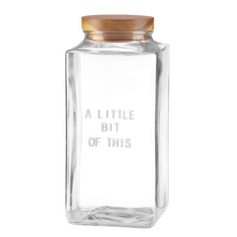 "Kate Spade  Deco Dot Glassware "" Little Bit of This"" Large Canister $35.00"