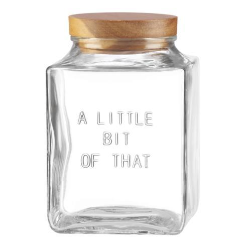 "Kate Spade  Deco Dot Glassware "" Little Bit of That"" Canister $30.00"