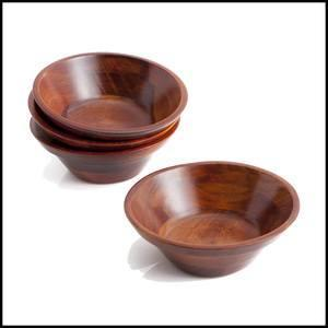 "$12.00 Adaman Sea Walnut: 7"" Individual Salad Bowl"