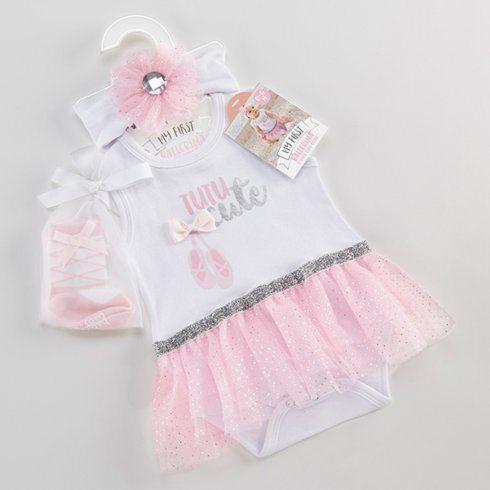 $32.00 My First Ballerina - 3 Piece Tutu Outfit - 0-6 Mo.