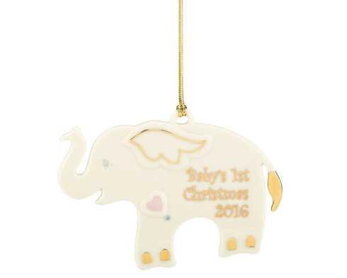 $15.00 2016 Baby\'s 1st Christmas Elephant Ornament by Lenox