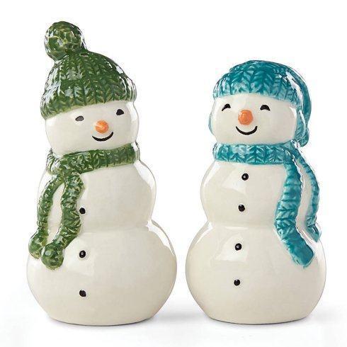Lenox  Balsam Lane Snowman Salt and Pepper $25.00