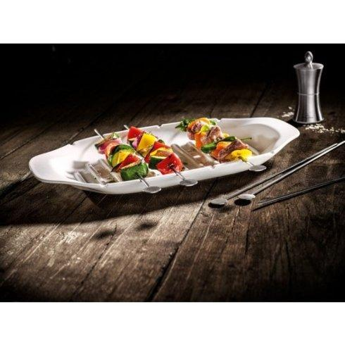 Villeroy & Boch  BBQ Passion Kebab Platter, 16.5