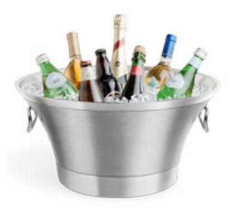 Final Touch  Bar Accessories Double-Wall Stainless Steel Beverage Bin $160.00