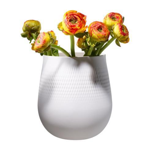 Villeroy & Boch  Collier Giftware Blanc Large Vase, Carre $77.00