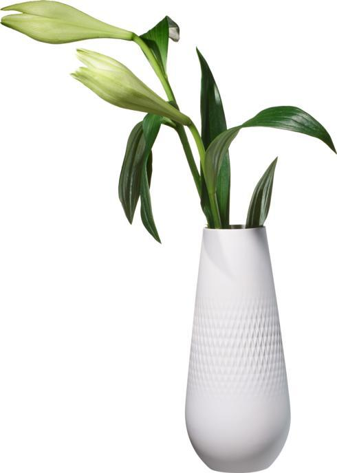 Villeroy & Boch  Collier Vases Blanc Tall Vase, Carre $62.00