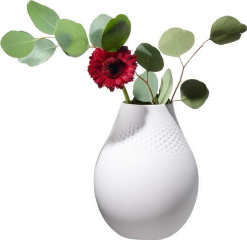 Villeroy & Boch  Collier Giftware Blanc Tall Vase, Perle $62.00