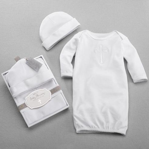 $28.00 Baby Blessings Gown & Cap