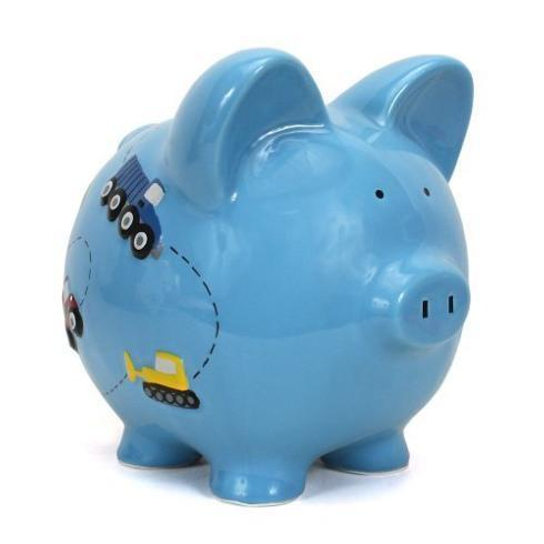 $34.00 Construction Piggy Bank, Blue