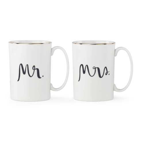 Kate Spade  Bridal Party Mr. and Mrs. Mug Set $40.00
