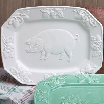 Live With It by Lora Hobbs Exclusives   Pig Relief Platter by Casafina $40.00