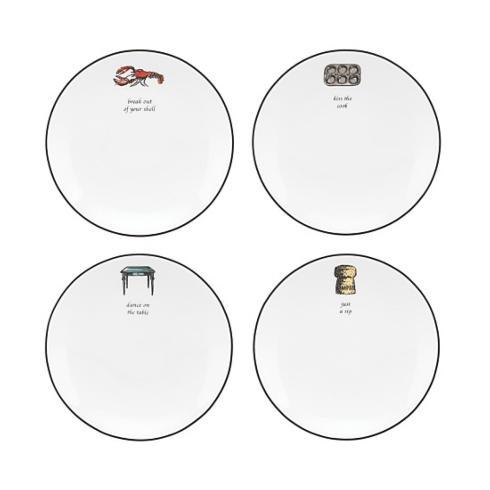 Kate Spade  Cause a Stir Tidbit Plates, Set of 4 $50.00