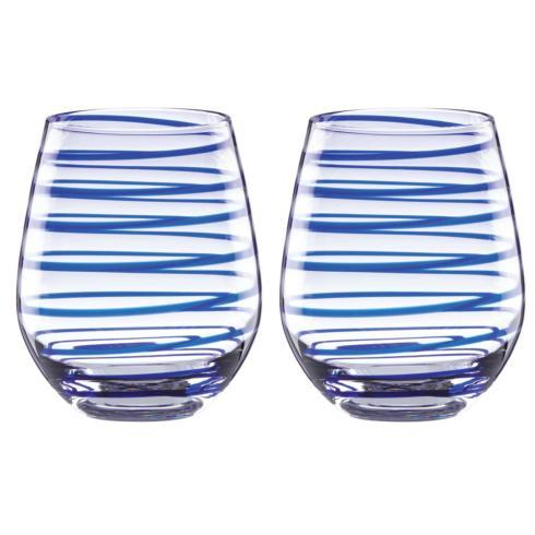 Kate Spade  Charlotte Street Stemware and Barware Stemless Wine, Set of 2 $40.00