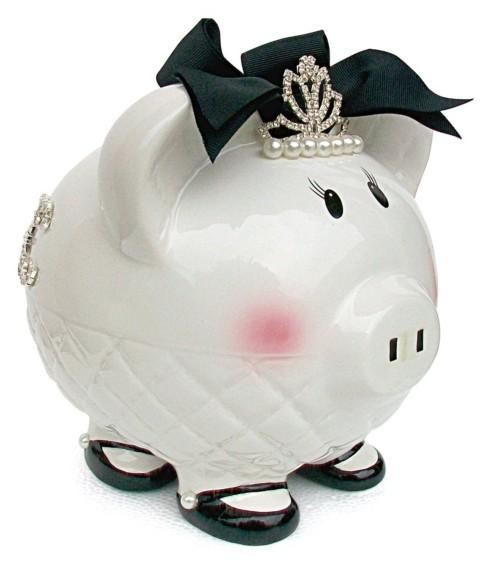 "$40.00 Queen ""B"" Piggy Bank"
