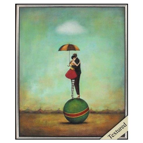 $129.00 Circus Romance --- Framed Textured Art