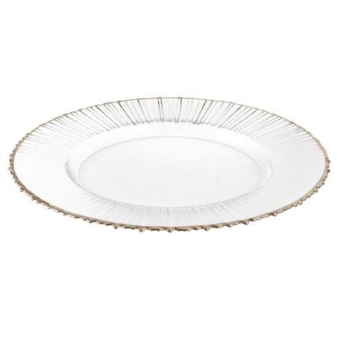 """Elegance by Leeber  Chargers Ray/ Silver Rim, 13"""", Set of 4 $90.00"""