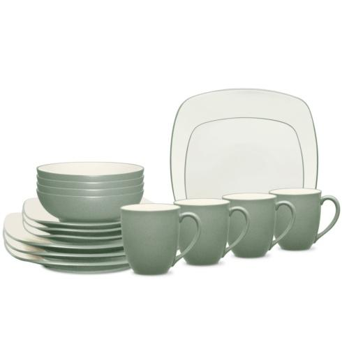 Sale $160.00 Square 16 Piece Dinnerware Set Service for 4  sc 1 st  Live With It by Lora Hobbs & Noritake Colorwave Green Dinnerware products