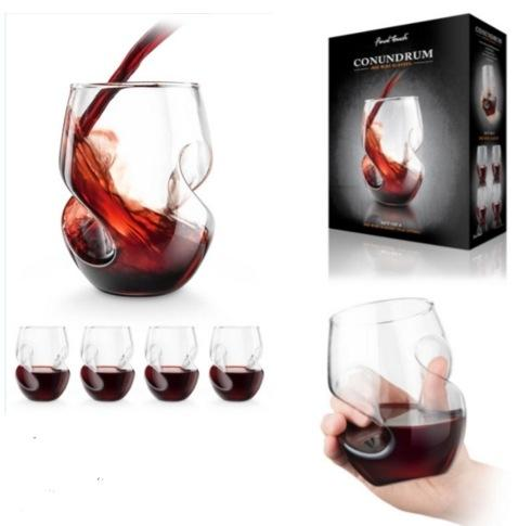 Final Touch  Conundrum Red Wine Glasses, Set of 4 $40.00