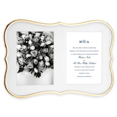 Kate Spade  Crown Point Gold Double Invitation Frame $110.00
