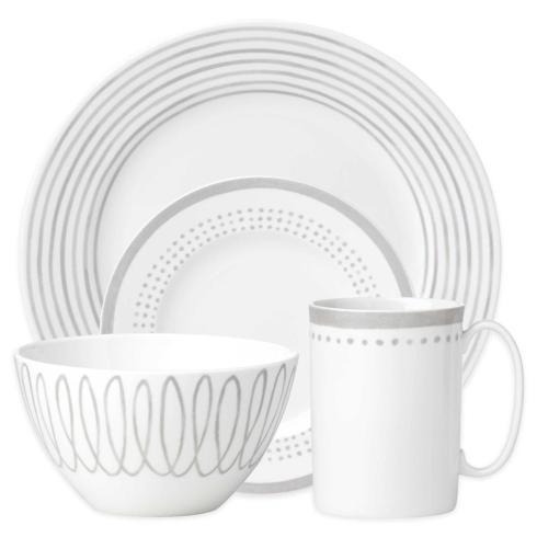 Kate Spade  Charlotte Street Grey East 4 Piece Place Setting $80.00