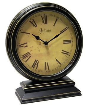 """$62.00 Dais 10.5"""" Distressed Wood Table Clock"""