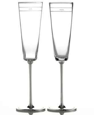 Kate Spade  Darling Point Toasting Flute, Pair $85.00
