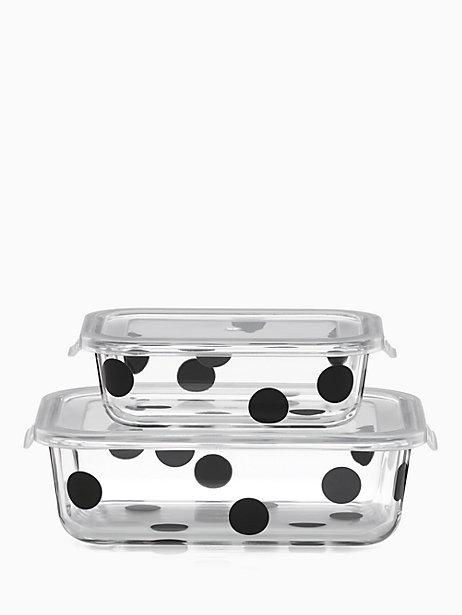 Kate Spade  On the Go Deco Dot Rectangular Food Storage Containers, 4 Piece Set $30.00