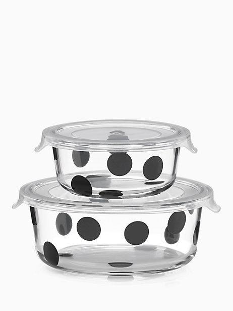 Kate Spade  On the Go Deco Dot Round Food Storage Containers, 4 Piece Set $25.00