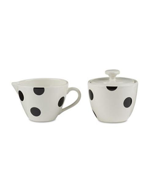 Kate Spade  Deco Dot Black Sugar and Creamer Set $30.00