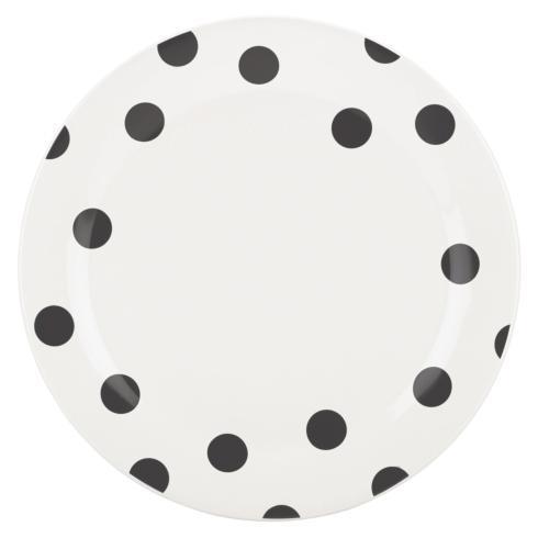 Kate Spade  Deco Dot Black Dinner Plate $16.00