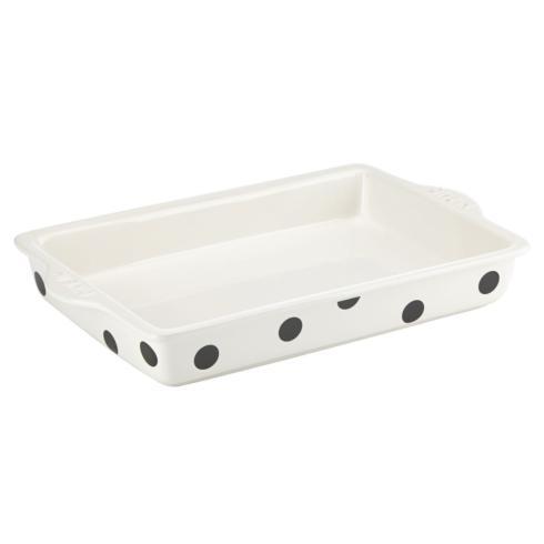 "Kate Spade  Bakeware and Baking Pans Deco Dot "" Dive In"" Rectangular Baker, 13"" x 9"" $50.00"