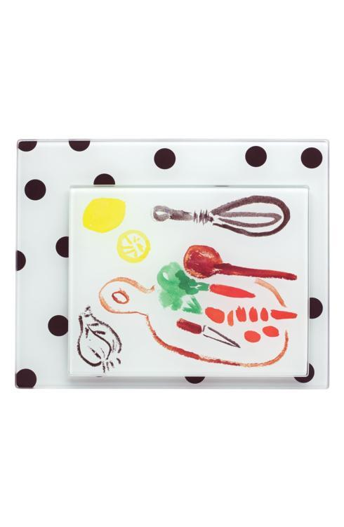 Kate Spade  Glass  Deco Dot Food Preparation Boards, Set of 2 $25.00
