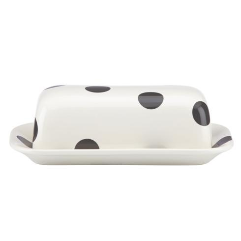 Kate Spade  Deco Dot Black Covered Butter $25.00