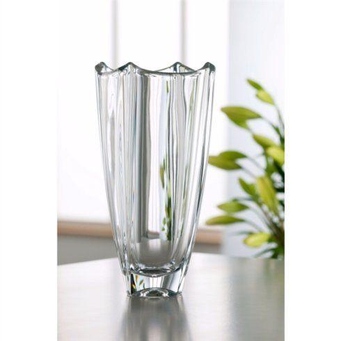 "Galway Irish Crystal  Dune 12"" Square Vase $75.95"
