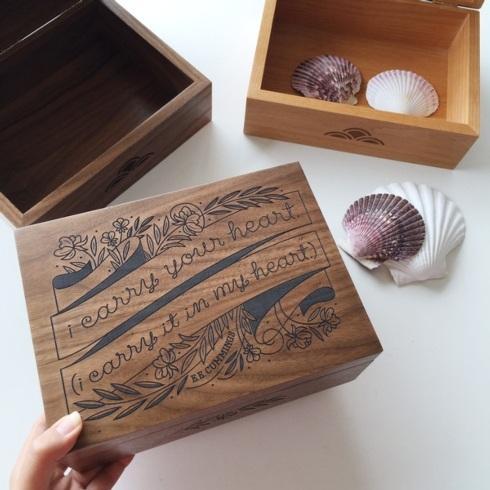 $109.00 I Carry Your Heart Wood Keepsake Box