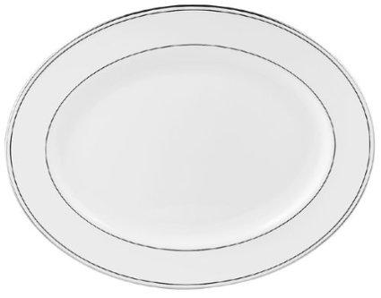 "Lenox  Federal Platinum Oval Platter, 16"" $210.00"