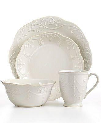 Lenox  French Perle White 4 Piece Place Setting $70.00