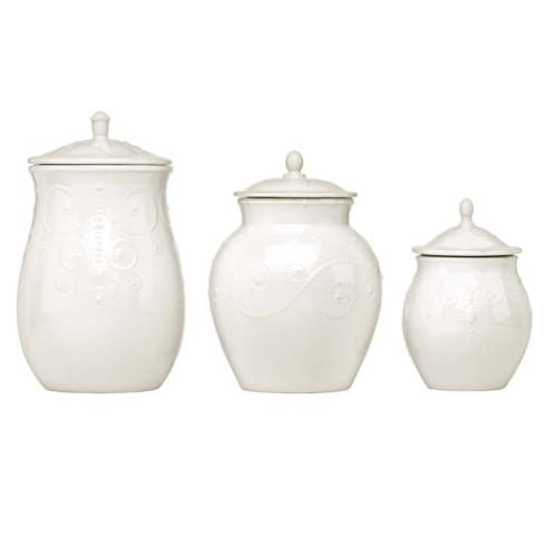 Lenox  French Perle White Canisters, Set of 3 $150.00
